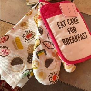 "kate spade Kitchen - Kate Spade ""Eat Cake for Breakfast"" 3 piece set"